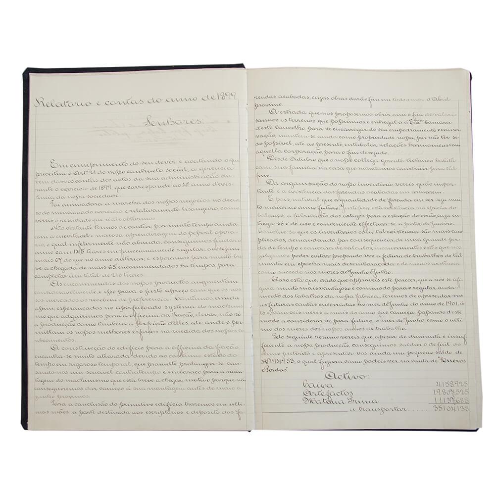 Relatórios da gerência (31.12.1898 – 12.03.1935) – Documento administrativo