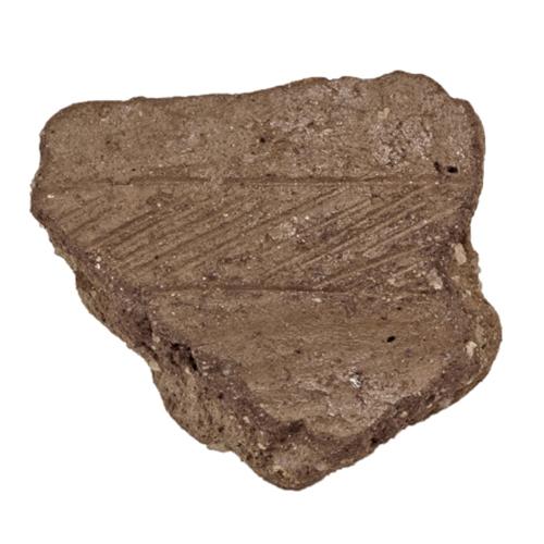 """Fragmento de cerâmica com decoração tipo """"Baiões"""""""