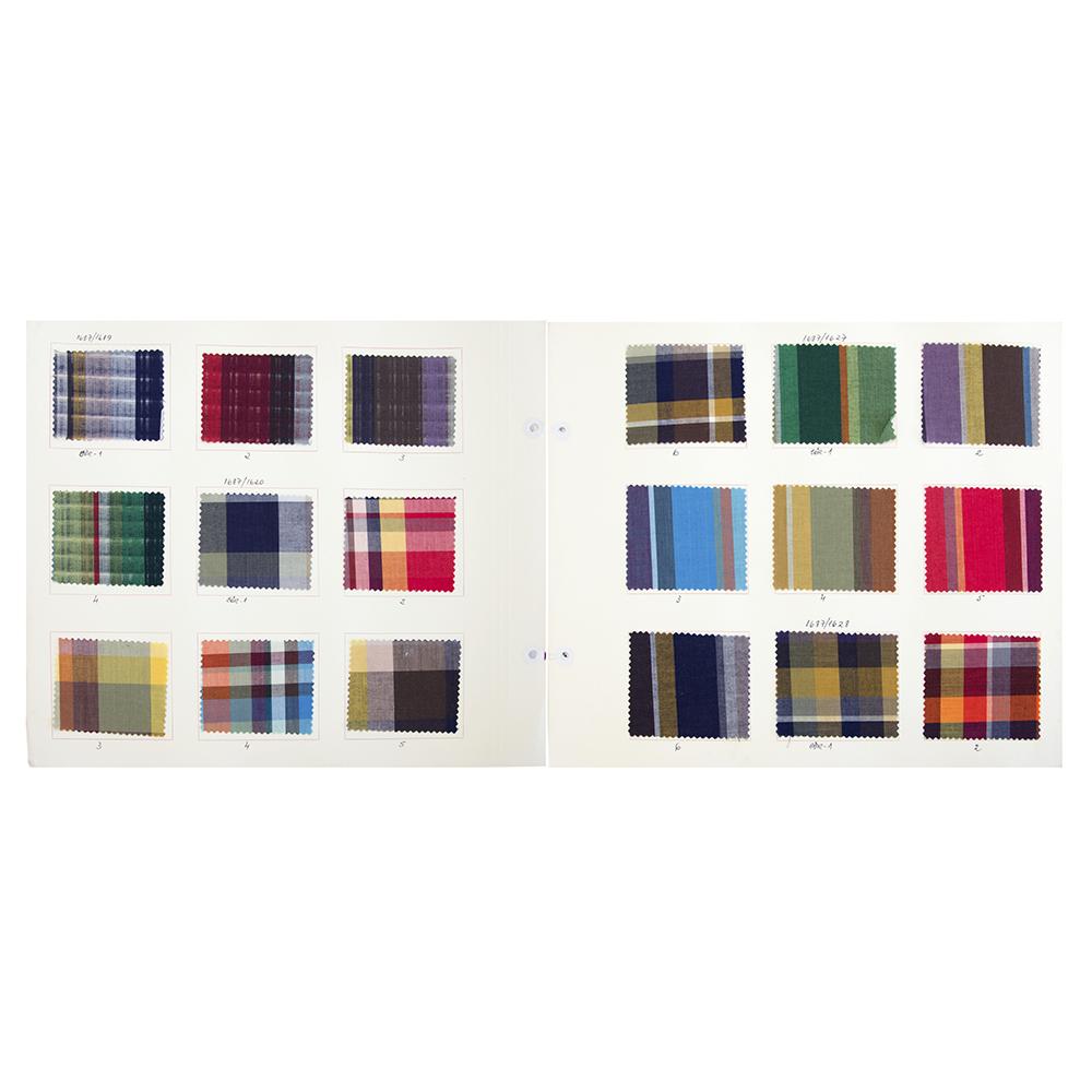 Livro de amostras de tecidos – Informação técnica de tecelagem