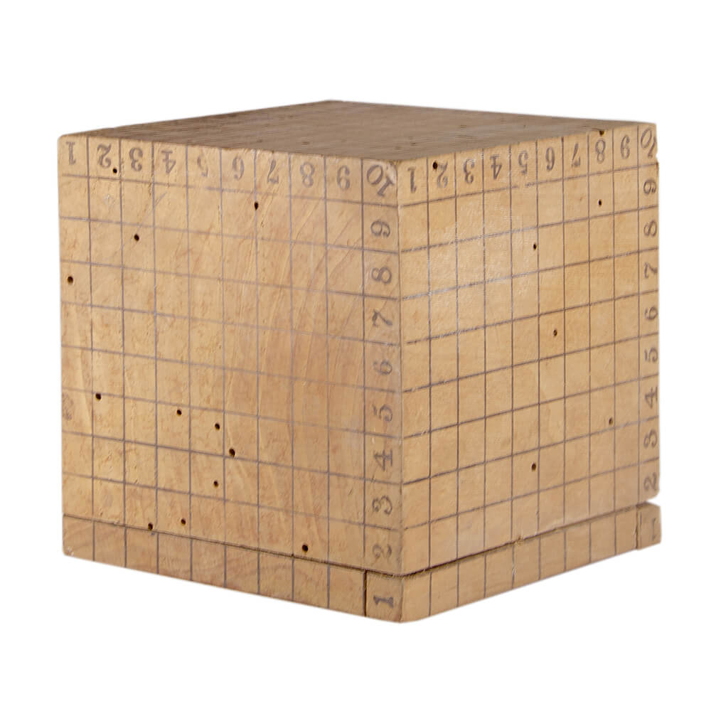 Cubo geométrico – Instrumento de cálculo